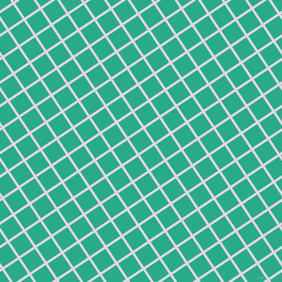 34/124 degree angle diagonal checkered chequered lines, 5 pixel lines width, 35 pixel square size, Snuff and Jungle Green plaid checkered seamless tileable