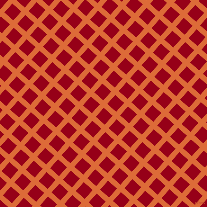 48/138 degree angle diagonal checkered chequered lines, 18 pixel line width, 41 pixel square size, Sorbus and Carmine plaid checkered seamless tileable
