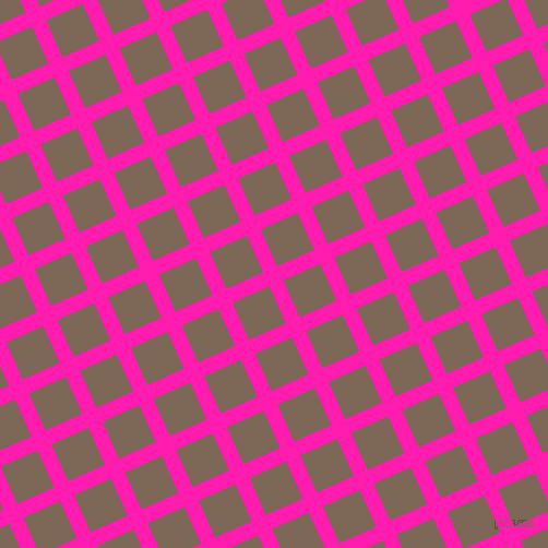24/114 degree angle diagonal checkered chequered lines, 14 pixel lines width, 37 pixel square size, Spicy Pink and Roman Coffee plaid checkered seamless tileable