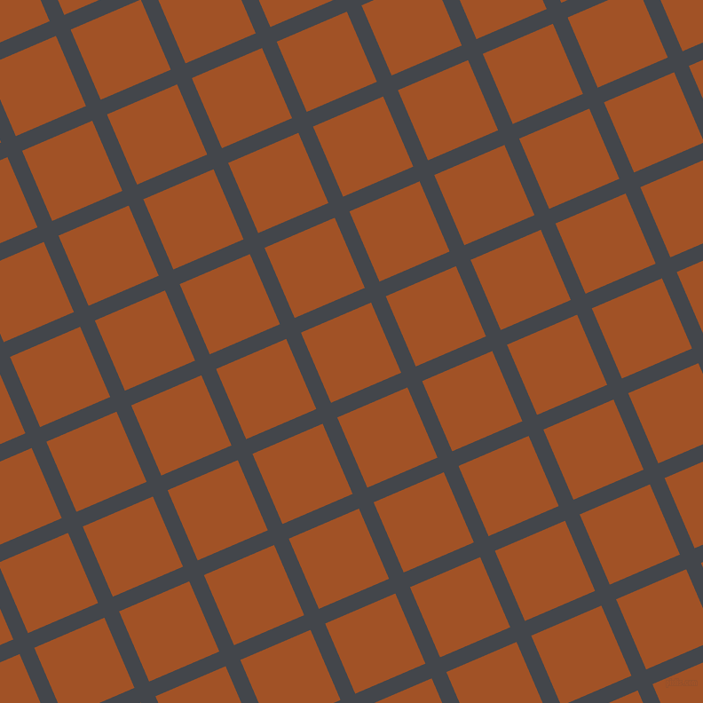 23/113 degree angle diagonal checkered chequered lines, 18 pixel line width, 86 pixel square size, Steel Grey and Rich Gold plaid checkered seamless tileable