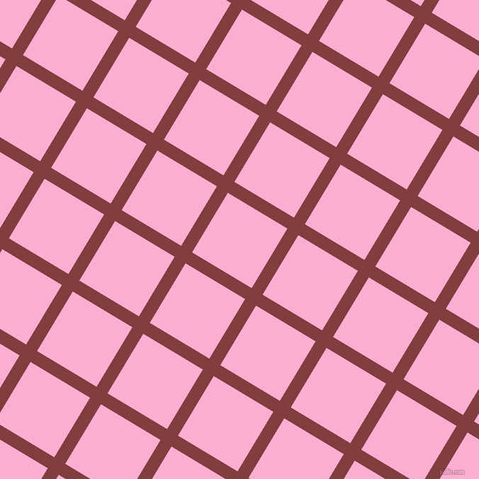 59/149 degree angle diagonal checkered chequered lines, 18 pixel line width, 98 pixel square size, Stiletto and Lavender Pink plaid checkered seamless tileable