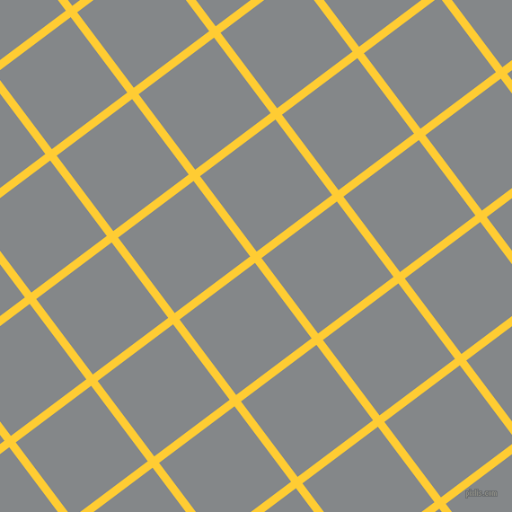 37/127 degree angle diagonal checkered chequered lines, 9 pixel lines width, 105 pixel square size, Sunglow and Aluminium plaid checkered seamless tileable
