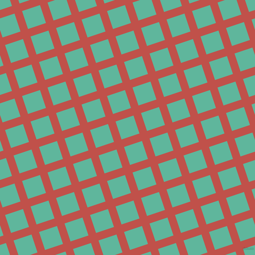 18/108 degree angle diagonal checkered chequered lines, 26 pixel line width, 62 pixel square size, Sunset and Keppel plaid checkered seamless tileable