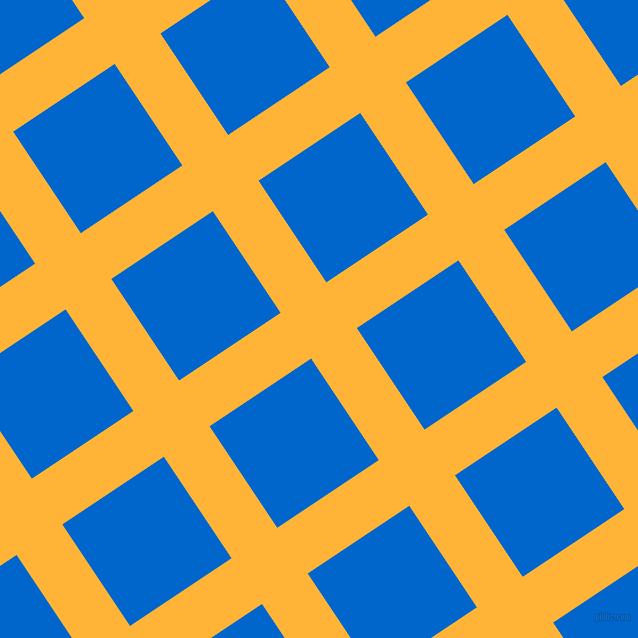 34/124 degree angle diagonal checkered chequered lines, 55 pixel line width, 122 pixel square size, Supernova and Navy Blue plaid checkered seamless tileable