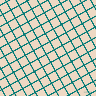 29/119 degree angle diagonal checkered chequered lines, 5 pixel lines width, 34 pixel square size, Surfie Green and Almond plaid checkered seamless tileable