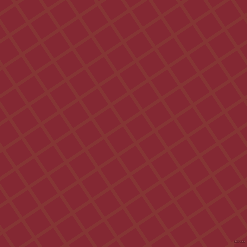 34/124 degree angle diagonal checkered chequered lines, 11 pixel line width, 63 pixel square size, Tall Poppy and Shiraz plaid checkered seamless tileable
