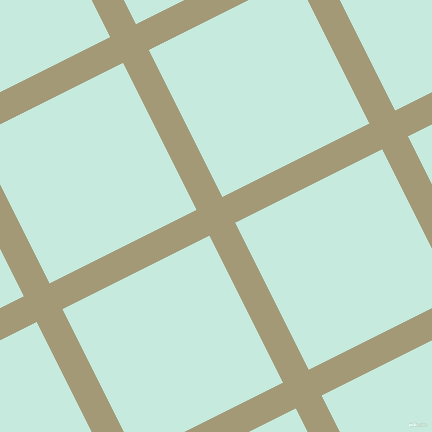 27/117 degree angle diagonal checkered chequered lines, 58 pixel line width, 331 pixel square size, Tallow and Mint Tulip plaid checkered seamless tileable