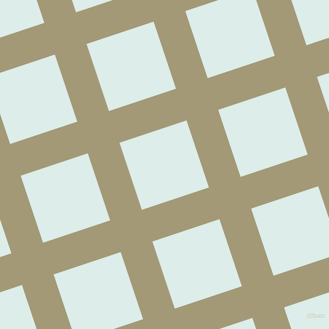18/108 degree angle diagonal checkered chequered lines, 68 pixel line width, 144 pixel square size, Tallow and Tranquil plaid checkered seamless tileable