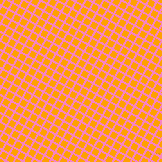 61/151 degree angle diagonal checkered chequered lines, 6 pixel lines width, 19 pixel square size, Tea Rose and Orange Peel plaid checkered seamless tileable