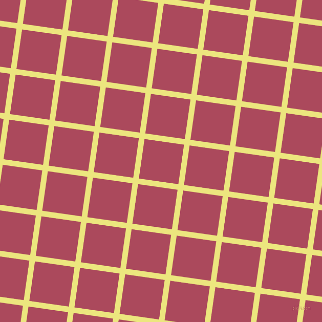 82/172 degree angle diagonal checkered chequered lines, 11 pixel line width, 78 pixel square size, Texas and Hippie Pink plaid checkered seamless tileable