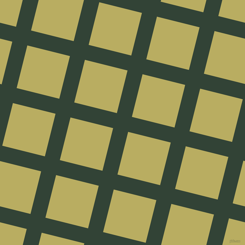 76/166 degree angle diagonal checkered chequered lines, 52 pixel lines width, 148 pixel square size, Timber Green and Gimblet plaid checkered seamless tileable