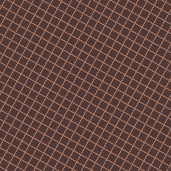 61/151 degree angle diagonal checkered chequered lines, 4 pixel line width, 25 pixel square size, Toast and Cocoa Bean plaid checkered seamless tileable