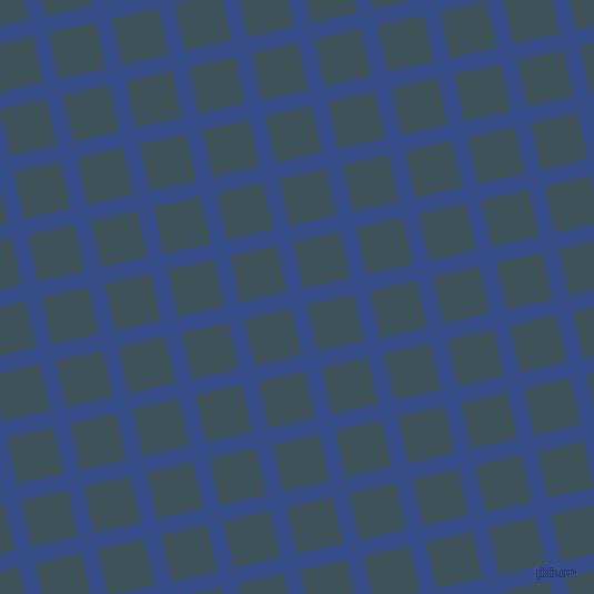 13/103 degree angle diagonal checkered chequered lines, 15 pixel line width, 43 pixel square size, Tory Blue and Casal plaid checkered seamless tileable