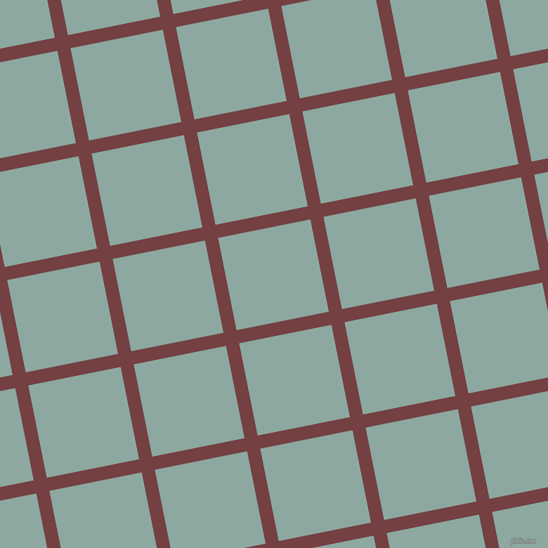 11/101 degree angle diagonal checkered chequered lines, 19 pixel lines width, 134 pixel square size, Tosca and Cascade plaid checkered seamless tileable