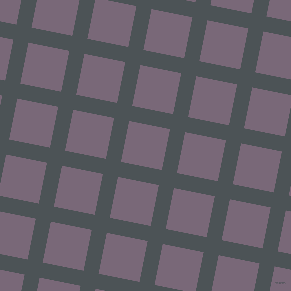 79/169 degree angle diagonal checkered chequered lines, 53 pixel lines width, 144 pixel square size, Trout and Old Lavender plaid checkered seamless tileable