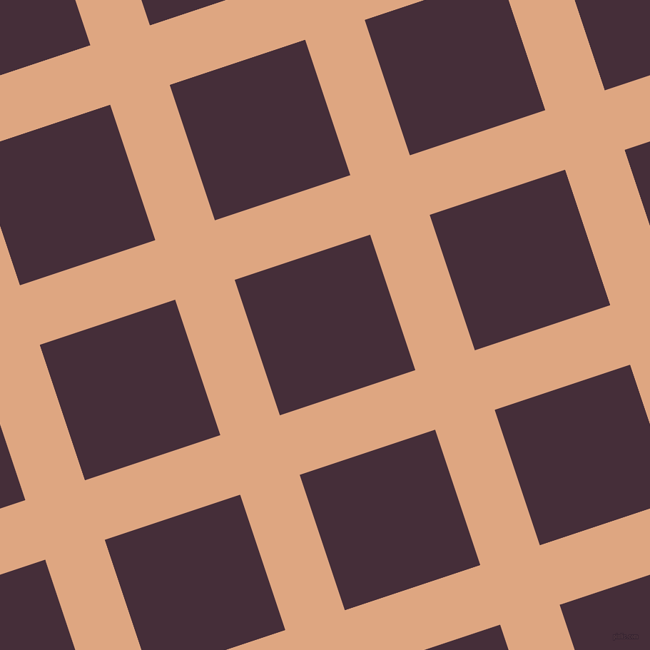 18/108 degree angle diagonal checkered chequered lines, 88 pixel line width, 200 pixel square size, Tumbleweed and Barossa plaid checkered seamless tileable