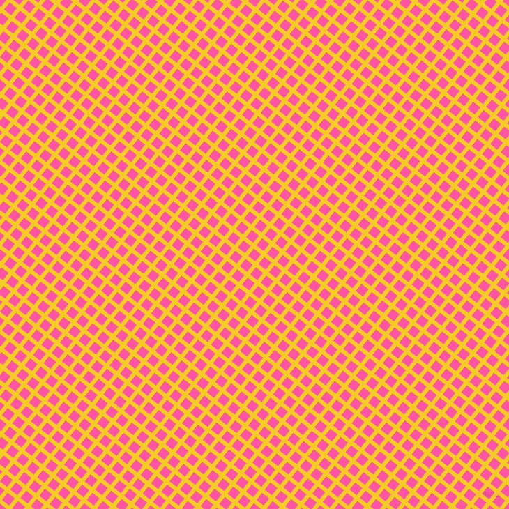 51/141 degree angle diagonal checkered chequered lines, 6 pixel lines width, 13 pixel square size, Turbo and Brilliant Rose plaid checkered seamless tileable