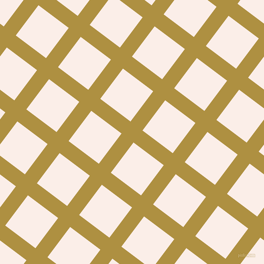 53/143 degree angle diagonal checkered chequered lines, 31 pixel lines width, 78 pixel square size, Turmeric and Rose White plaid checkered seamless tileable