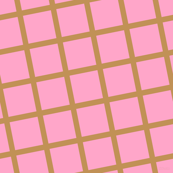 11/101 degree angle diagonal checkered chequered lines, 18 pixel line width, 94 pixel square size, Twine and Carnation Pink plaid checkered seamless tileable