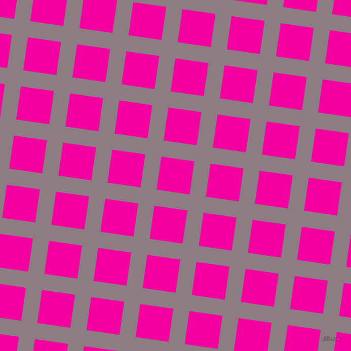 82/172 degree angle diagonal checkered chequered lines, 32 pixel lines width, 66 pixel square size, Venus and Hollywood Cerise plaid checkered seamless tileable
