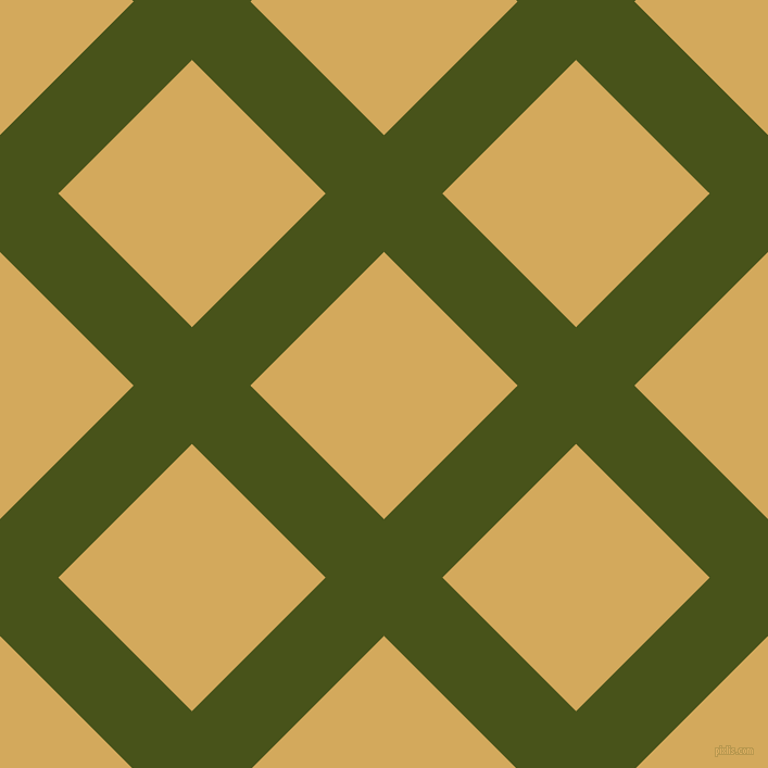 45/135 degree angle diagonal checkered chequered lines, 76 pixel lines width, 174 pixel square size, Verdun Green and Apache plaid checkered seamless tileable