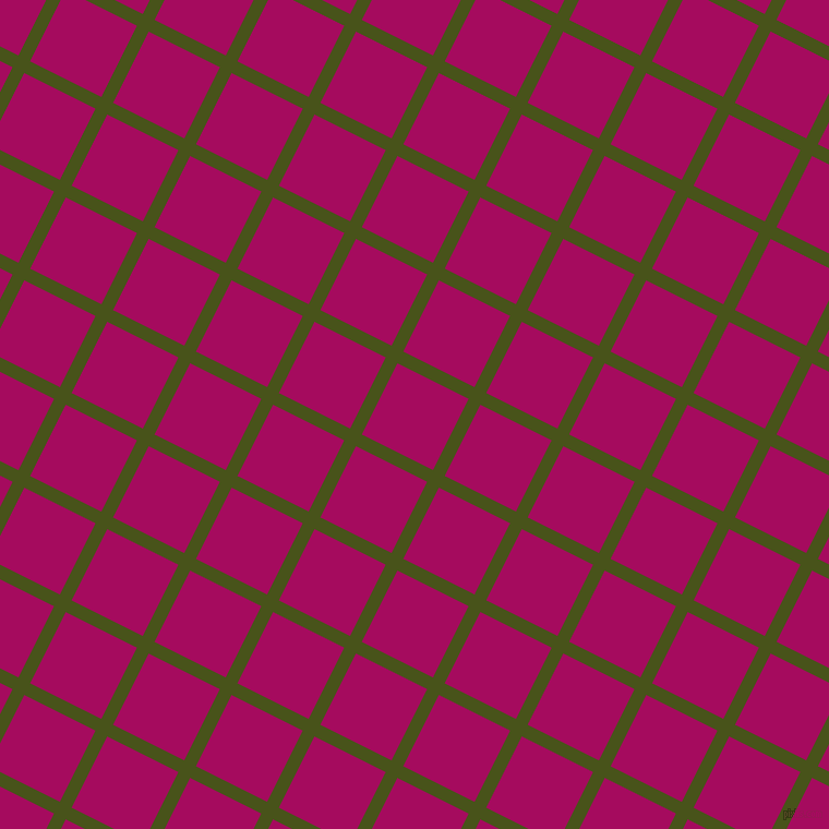 63/153 degree angle diagonal checkered chequered lines, 12 pixel lines width, 73 pixel square size, Verdun Green and Jazzberry Jam plaid checkered seamless tileable