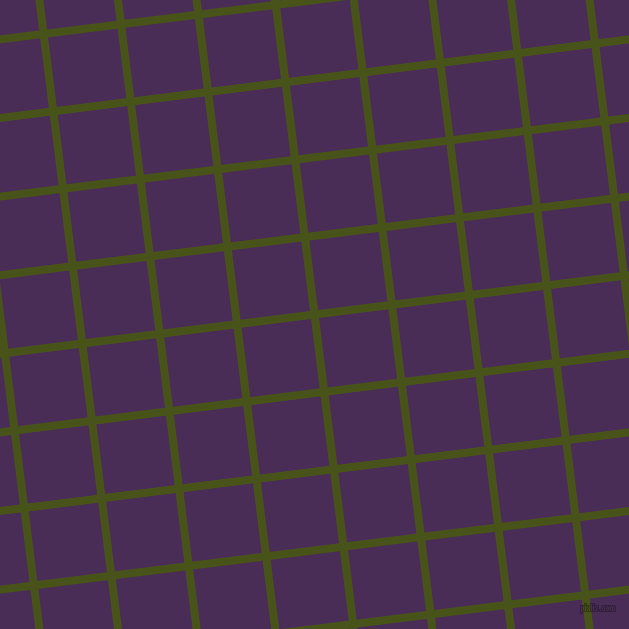 7/97 degree angle diagonal checkered chequered lines, 8 pixel lines width, 70 pixel square size, Verdun Green and Scarlet Gum plaid checkered seamless tileable