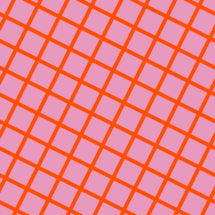63/153 degree angle diagonal checkered chequered lines, 13 pixel lines width, 69 pixel square size, Vermilion and Shocking plaid checkered seamless tileable