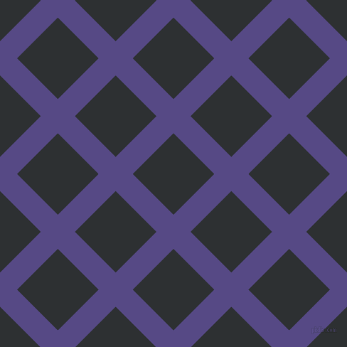 45/135 degree angle diagonal checkered chequered lines, 34 pixel line width, 81 pixel square size, Victoria and Cod Grey plaid checkered seamless tileable