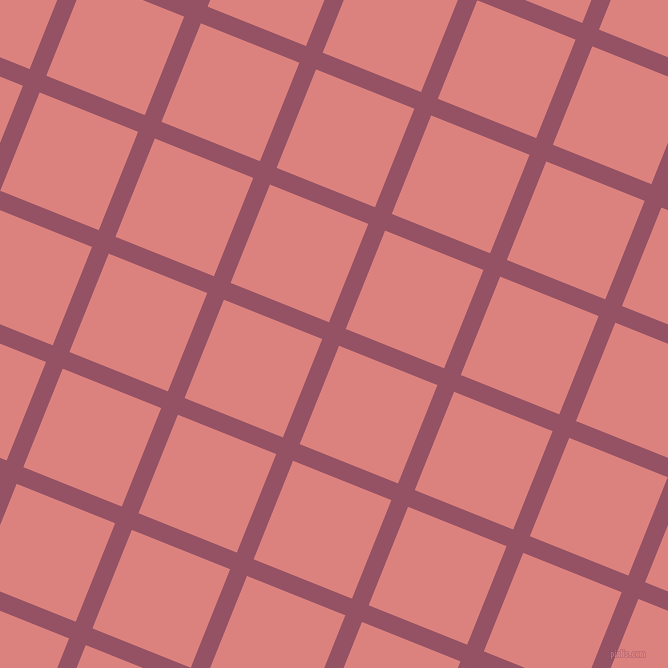 68/158 degree angle diagonal checkered chequered lines, 18 pixel lines width, 106 pixel square size, Vin Rouge and Sea Pink plaid checkered seamless tileable