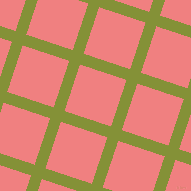 72/162 degree angle diagonal checkered chequered lines, 37 pixel lines width, 160 pixel square size, Wasabi and Light Coral plaid checkered seamless tileable