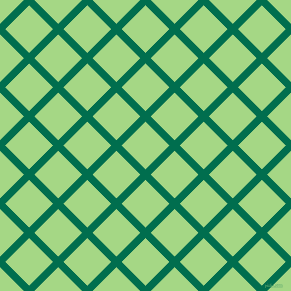 45/135 degree angle diagonal checkered chequered lines, 15 pixel line width, 68 pixel square size, Watercourse and Feijoa plaid checkered seamless tileable