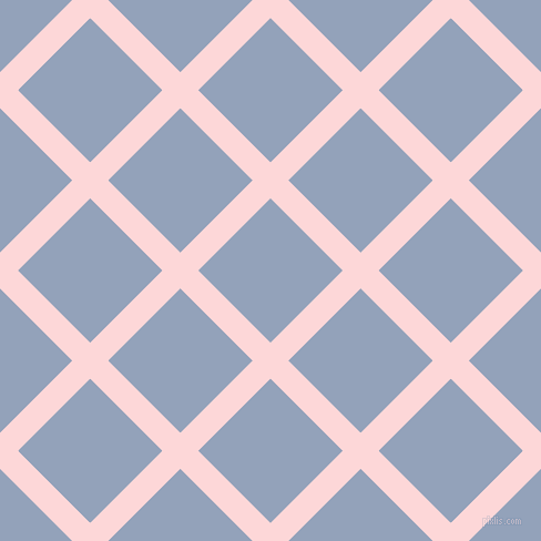45/135 degree angle diagonal checkered chequered lines, 23 pixel line width, 92 pixel square size, We Peep and Rock Blue plaid checkered seamless tileable