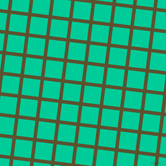 83/173 degree angle diagonal checkered chequered lines, 12 pixel line width, 59 pixel square size, West Coast and Caribbean Green plaid checkered seamless tileable