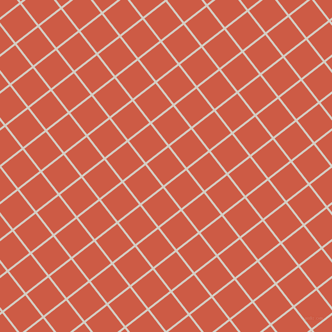 38/128 degree angle diagonal checkered chequered lines, 4 pixel lines width, 53 pixel square size, Westar and Dark Coral plaid checkered seamless tileable