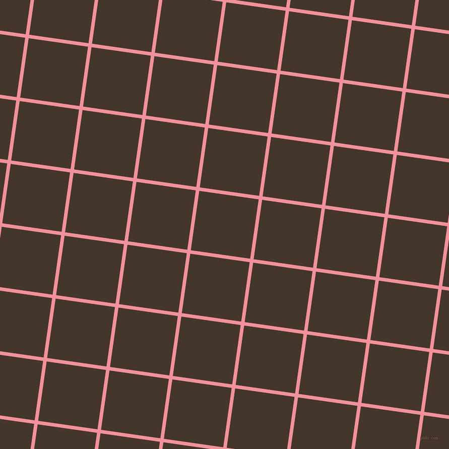 82/172 degree angle diagonal checkered chequered lines, 7 pixel line width, 119 pixel square size, Wewak and Dark Rum plaid checkered seamless tileable