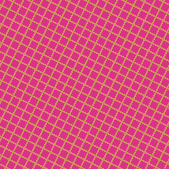 63/153 degree angle diagonal checkered chequered lines, 6 pixel line width, 26 pixel square size, Whiskey and Deep Cerise plaid checkered seamless tileable
