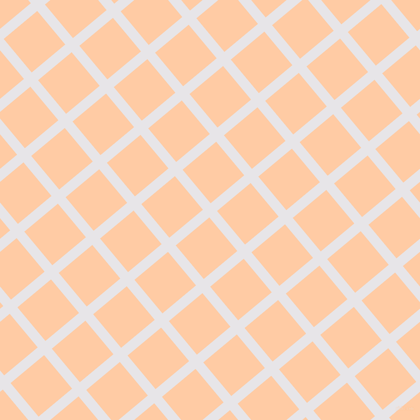 40/130 degree angle diagonal checkered chequered lines, 20 pixel lines width, 87 pixel square size, White Lilac and Peach plaid checkered seamless tileable