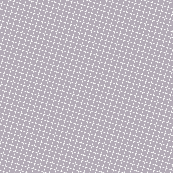 73/163 degree angle diagonal checkered chequered lines, 2 pixel line width, 20 pixel square size, White Smoke and Chatelle plaid checkered seamless tileable