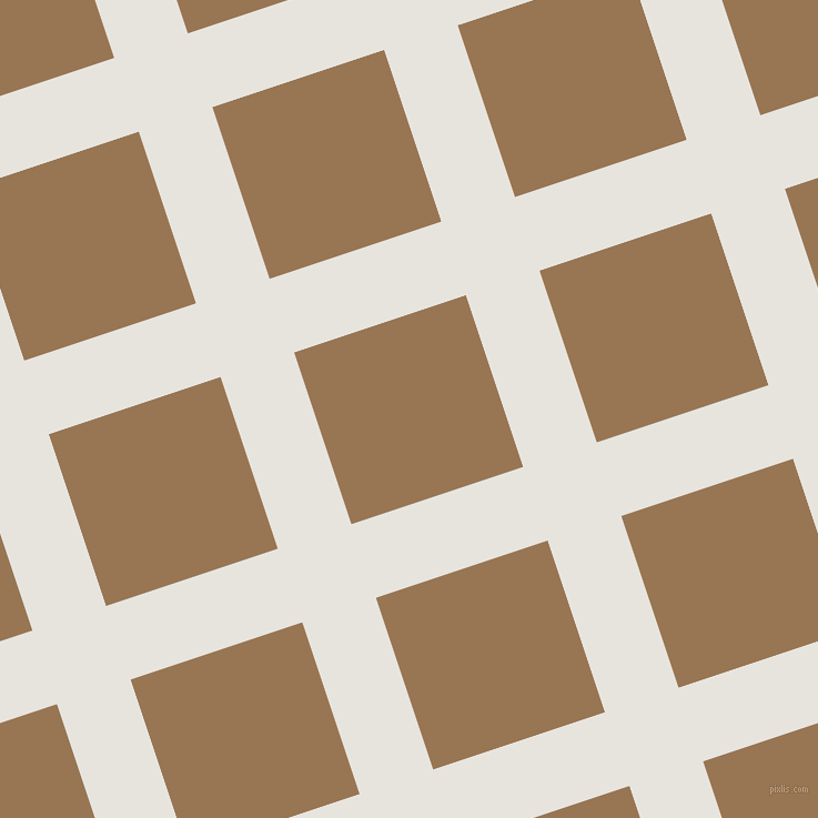 18/108 degree angle diagonal checkered chequered lines, 70 pixel line width, 163 pixel square size, Wild Sand and Pale Brown plaid checkered seamless tileable