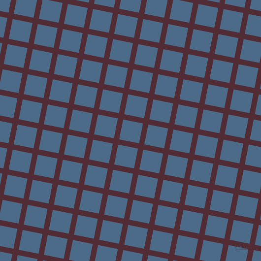 79/169 degree angle diagonal checkered chequered lines, 11 pixel line width, 41 pixel square size, Wine Berry and Wedgewood plaid checkered seamless tileable