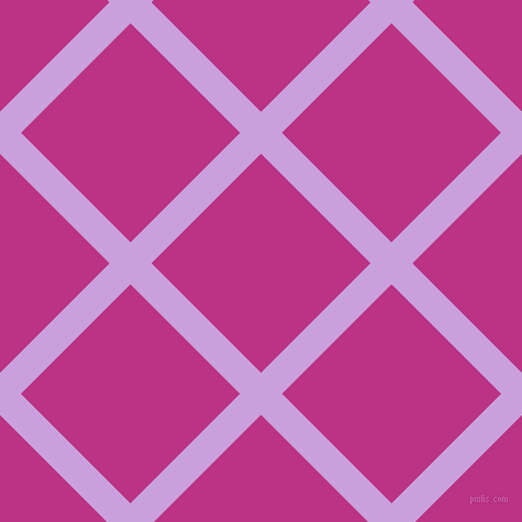 45/135 degree angle diagonal checkered chequered lines, 27 pixel line width, 141 pixel square size, Wisteria and Red Violet plaid checkered seamless tileable