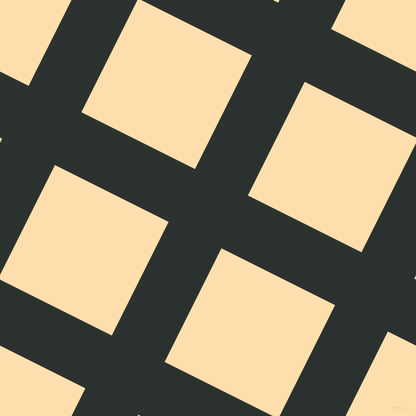 63/153 degree angle diagonal checkered chequered lines, 117 pixel lines width, 252 pixel square size, Woodsmoke and Navajo White plaid checkered seamless tileable