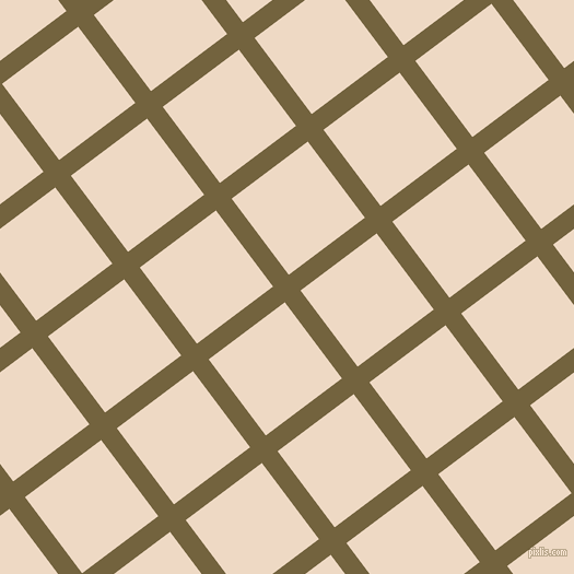 37/127 degree angle diagonal checkered chequered lines, 18 pixel line width, 87 pixel square size, Yellow Metal and Almond plaid checkered seamless tileable