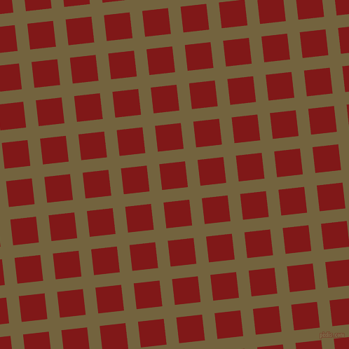 6/96 degree angle diagonal checkered chequered lines, 18 pixel line width, 37 pixel square size, Yellow Metal and Falu Red plaid checkered seamless tileable
