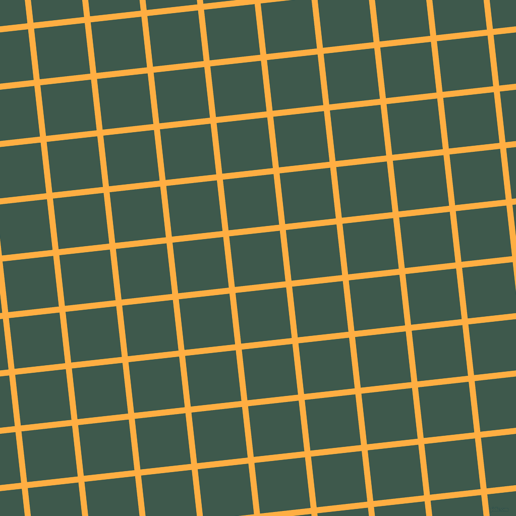 6/96 degree angle diagonal checkered chequered lines, 12 pixel lines width, 101 pixel square size, Yellow Orange and Plantation plaid checkered seamless tileable