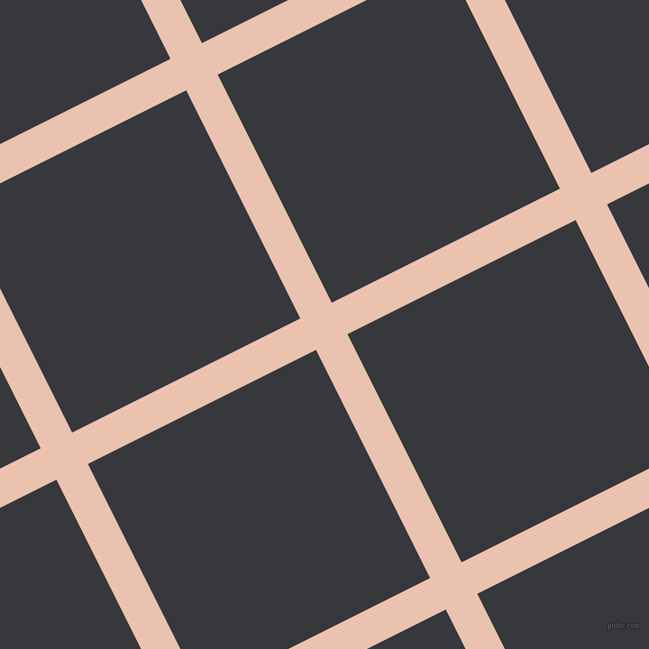 27/117 degree angle diagonal checkered chequered lines, 39 pixel line width, 283 pixel square size, Zinnwaldite and Vulcan plaid checkered seamless tileable