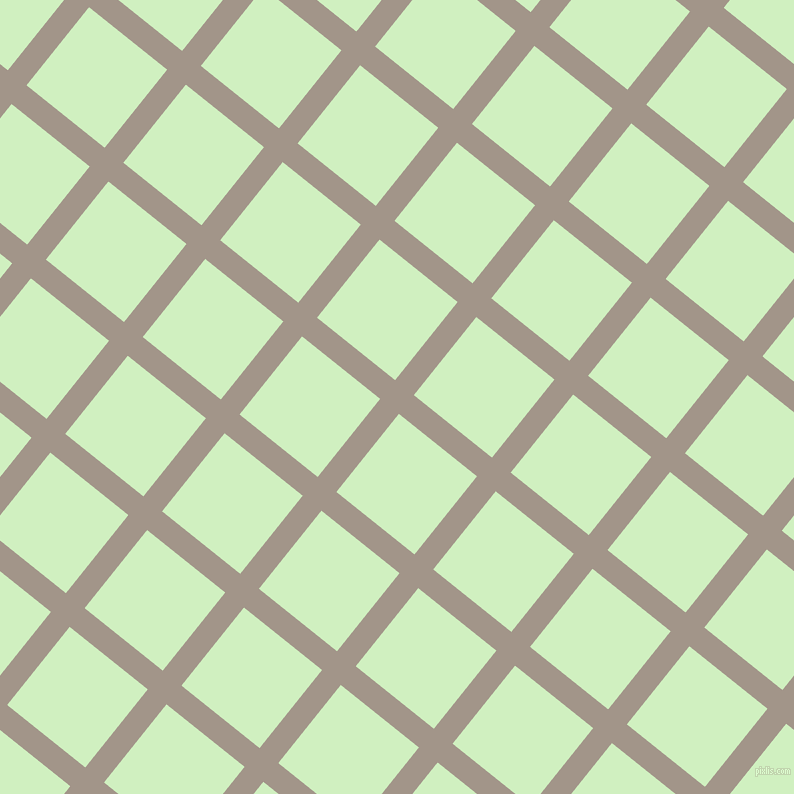 51/141 degree angle diagonal checkered chequered lines, 24 pixel line width, 100 pixel square size, Zorba and Tea Green plaid checkered seamless tileable