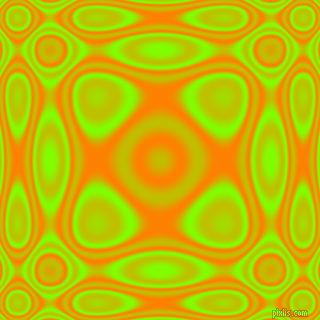 , Chartreuse and Dark Orange plasma wave seamless tileable
