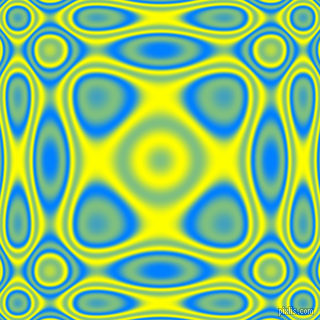 , Dodger Blue and Yellow plasma wave seamless tileable